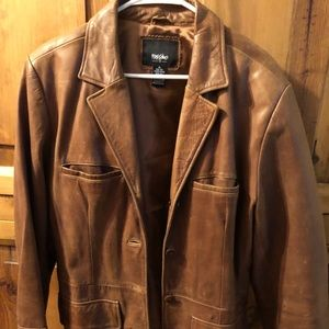 100% Leather Lined Mid Length Car Coat Caramel